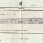 Ada Collins Smith Death Certificate