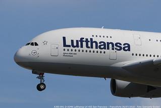 D-AIMN A380-841 LH 455 SFO-FRA | by Giancarlo Scolari