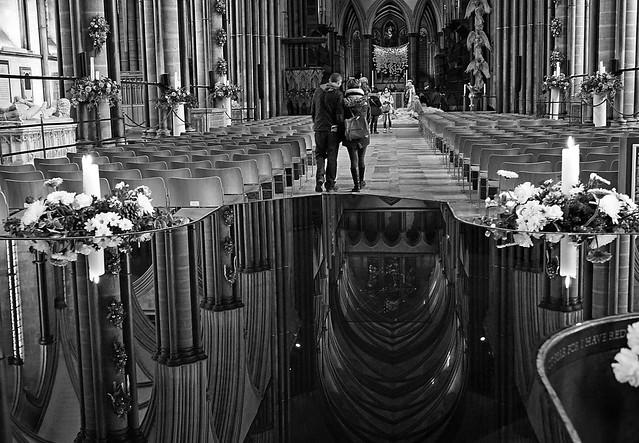 Salisbury Cathedral post-Christmas 2016