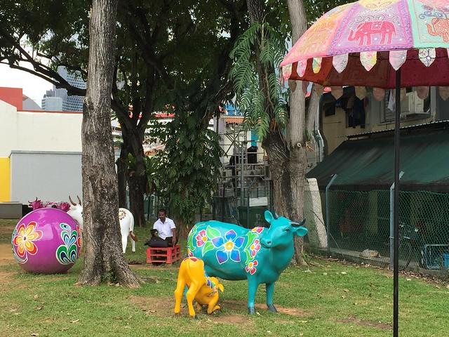 Cow sculptures, Clive Street, Singapore