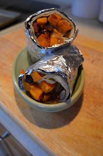 RoastedVegetableBurritos | by katesrecipebox