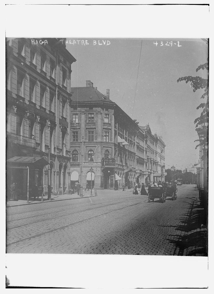 Riga -- Theatre Blvd (LOC)
