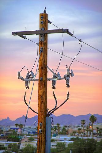 sunset arizona reflection water clouds canon az telephonepole hdr lakehavasu 50d qtpfsgui luminancehdr
