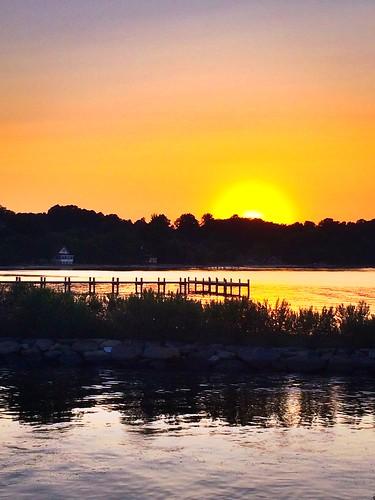 sunset water dock chesapeakebay herringtonharbor