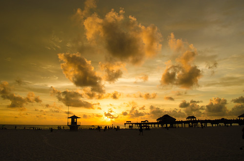 sunset sun florida sunsets clearwaterbeach clearwater sunsetsatpier60