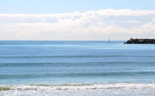 blue sea seascape beach nature clouds newcastle landscape nikon scenery rocks waves australia seawall nsw coolpix walls stockton p600