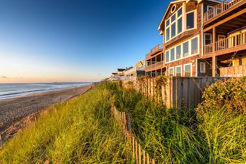 houses sky color beach sunrise landscape nikon dunes northcarolina outerbanks nikond810 140240mmf28