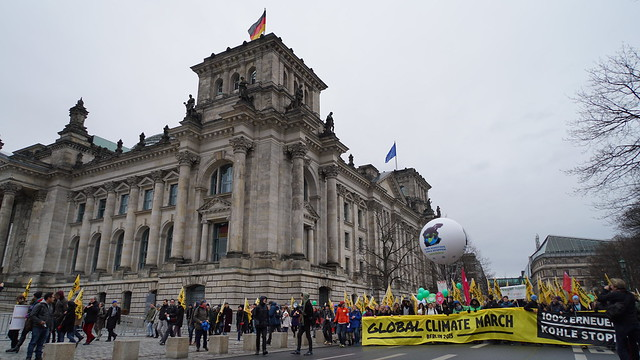 Global Climate March, Reichstag Berlin, Germany