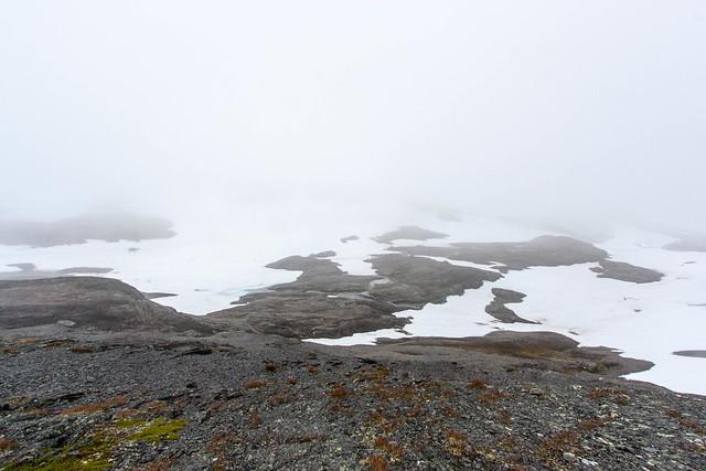 Tågen og disen vendte tilbage højere oppe