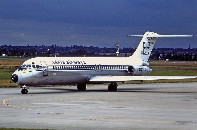 YU-AHJ DC9 Adria BHX 03-08-89