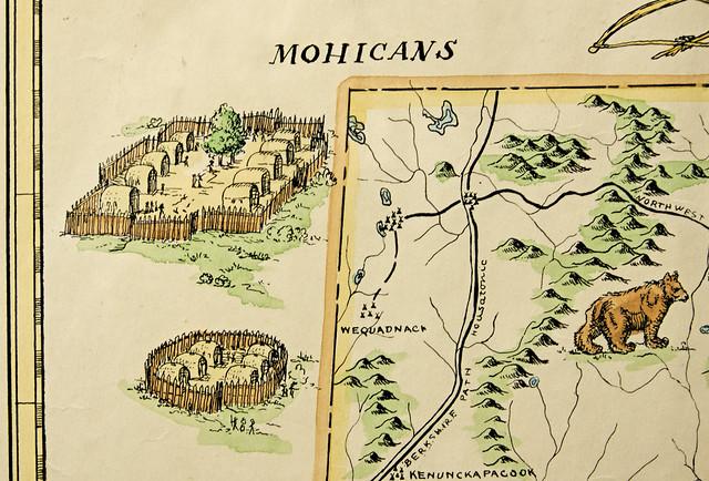 Map of Connecticut Indian Trails, Villages, Sachemdoms