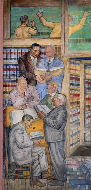 """""""Law Library"""" • Coit Tower, 1934"""