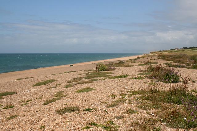 Chesil beach between Abbotsbury and West Bexington