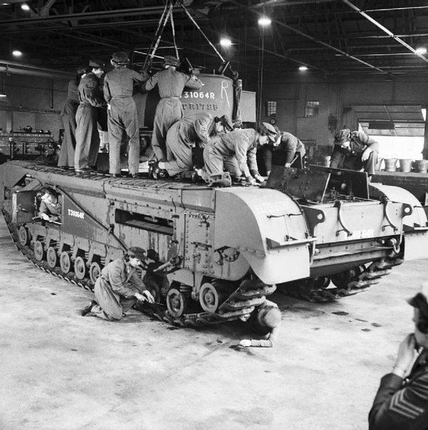 the repair of the tank Churchill