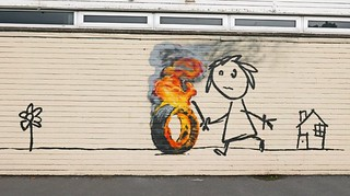 #Banksy at Bridge Farm Primary School, Bristol | by dullhunk