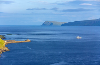 The ferry coming from Sandoy, Faroe Islands | by thorrisig
