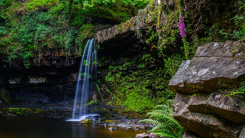 nature water wales forest landscape waterfall woods scenery outdoor brecon beacons sgwdgwladus sonynex5n tanzpanorama