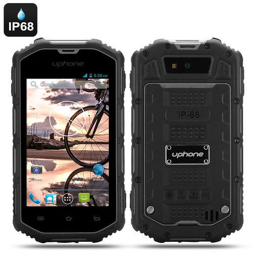 Uphone U5A Waterproof Rugged Phone – Android 4.2 OS, Dual Core CPU, IP68 Rating, Dust Proof, Shockproof (Black) | by shopsmileprize