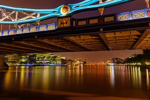 london towerbridge reflections lights nightphoto riverthames upriver