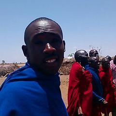 Luka at the Masai village near Amboseli #Kenya
