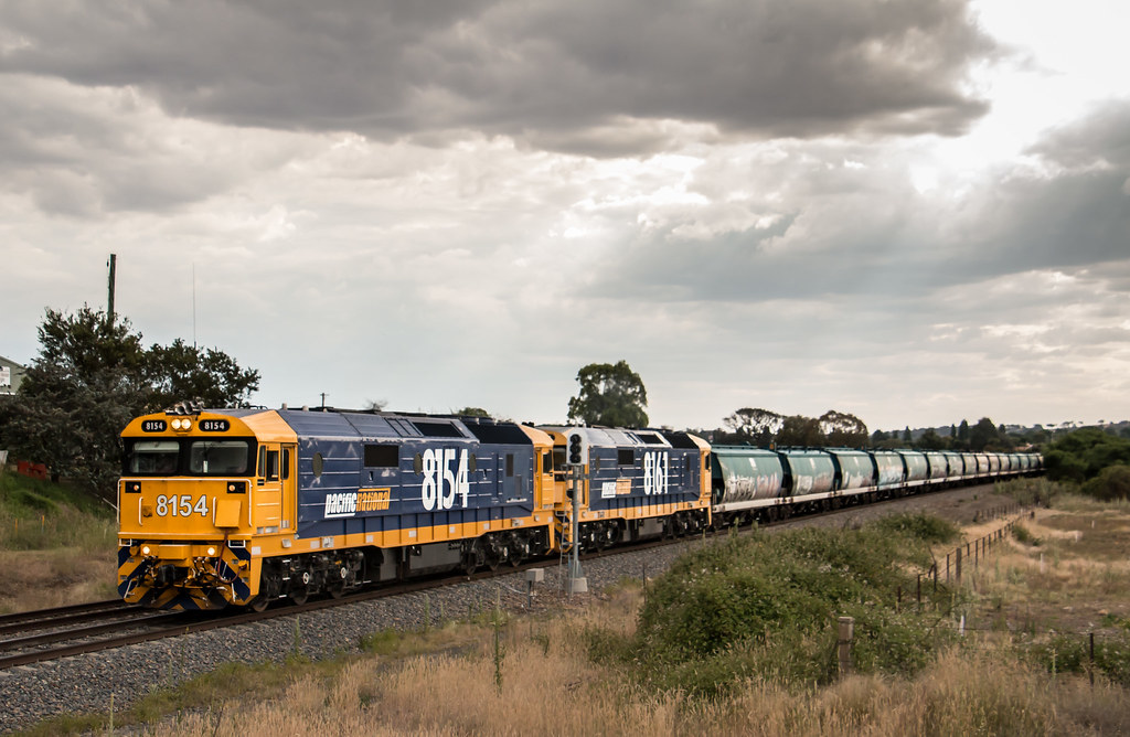 8154 and 8161 on 3521 at North Goulburn by AaronHazelgrove01