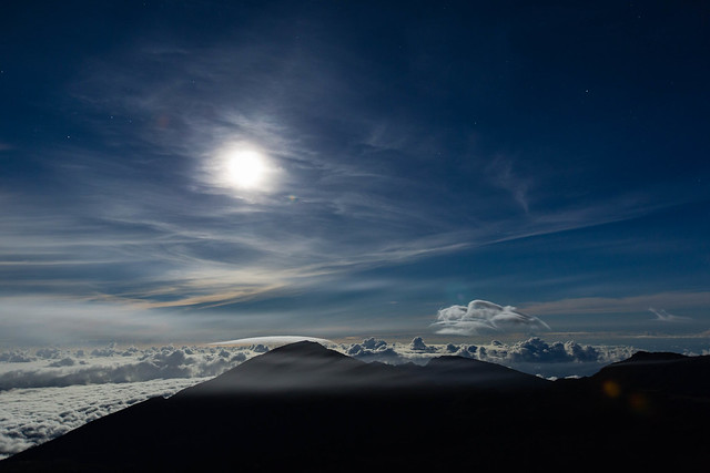 Moonrise from Haleakala