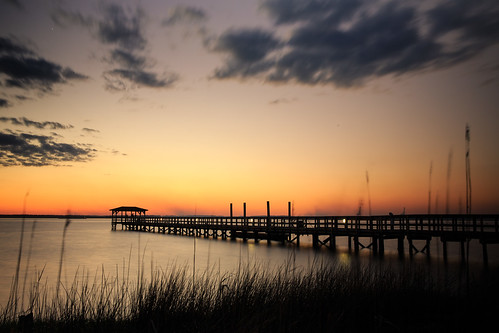 nc northcarolina fortfisher capefearriver sunset peir