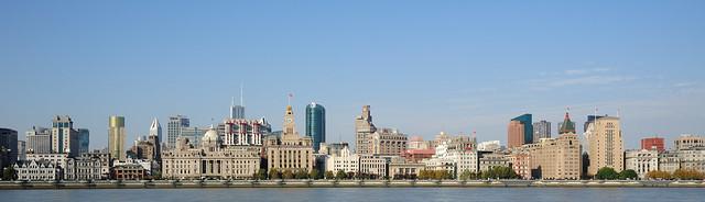 外滩全景 The Long Bund in Shanghai 上海长滩