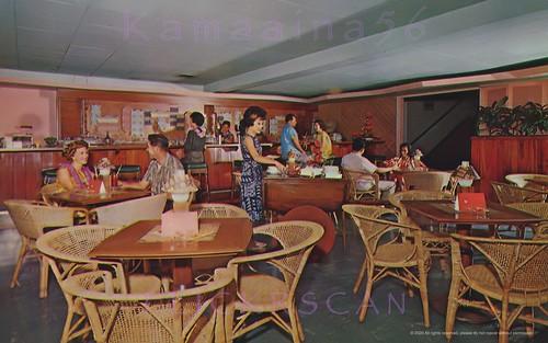 1950s bigisland hilo hawaii postcard interior naniloa restaurant