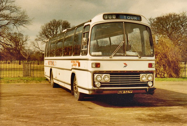 National Travel London , AEC / Plaxton -  KUW527P . Hampton Court  April 1980