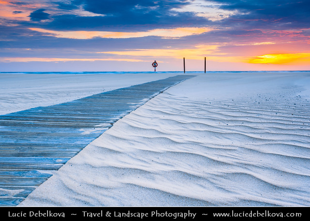 Spain - Canary Islands - Fuerteventura - Parque Natural Corralejo - White Sand Dunes at Sunrise
