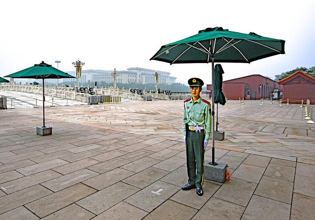 China 2013. Beijin. Guard at Tian'anmen square.