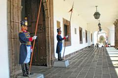 Entrance to the Presidential Palace in Quito, Ecuador
