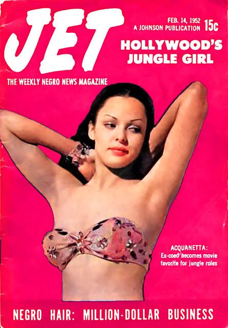 Actress Acquanetta, Hollywood's Jungle Girl - Jet Magazine February 14, 1952