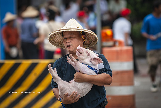 pork farmers on Taipei street 2007 豬農上台北