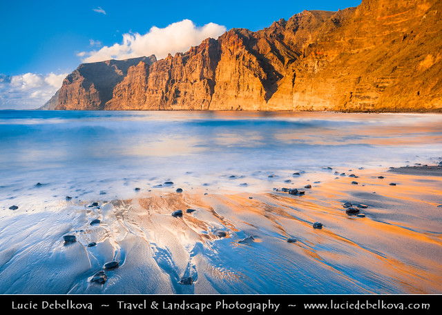 Spain - Canary Islands - Tenerife Island - Los Gigantes - Cliffs at Los Gigantes (The Giants)