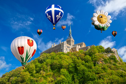 Hot Air Balloons of Mont Saint-Michel | by Bold Frontiers