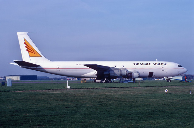 5X-TRA 707-3J9C   Triangle Cargo Airlines Manston 31.10.95