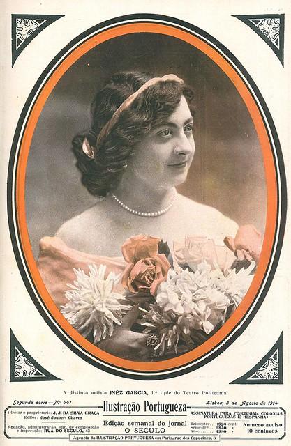 Capa de revista antiga | old magazine cover | Portugal 1910s