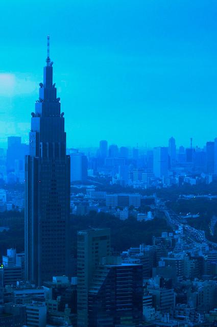 NTT Tower - As viewed from the Park Hyatt. Tokyo, Japan, 2012.