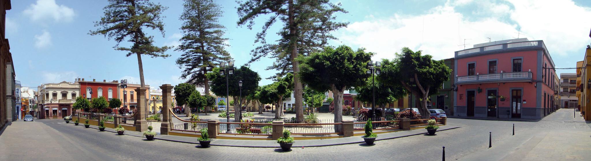 vista de Plaza de Santiago de Gáldar isla de Gran Canaria