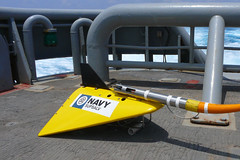 File photo of a towed pinger locator (TPL) 25 system used for locating emergency relocation pingers on downed aircraft. (U.S. Navy)