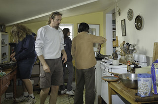 Jerry Hendershot (center), ceramics instructor from Boise