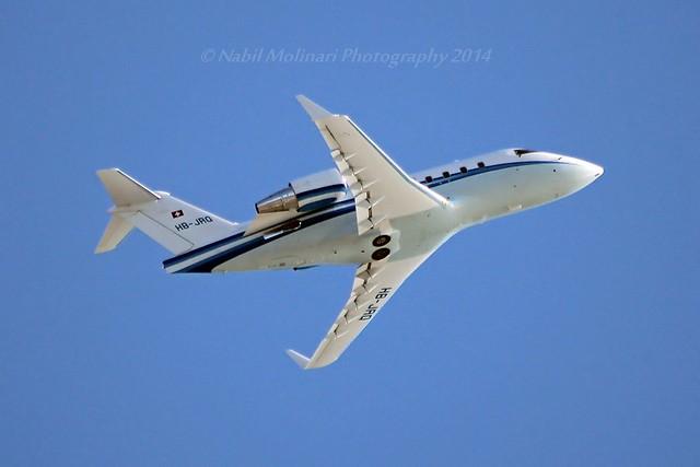Albinati Aviation HB-JRQ Bombardier CL-600-2B16 Challenger 604 cn/5651 @ Nice Cote d'Azur Airport LFMN / NCE 12-02-2014