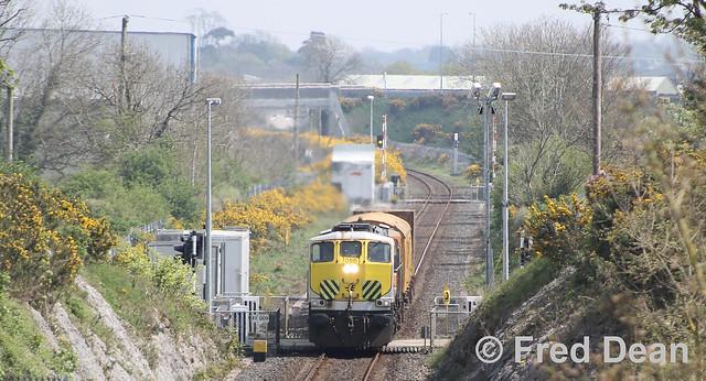 Irish Rail 086 at Waterrock.