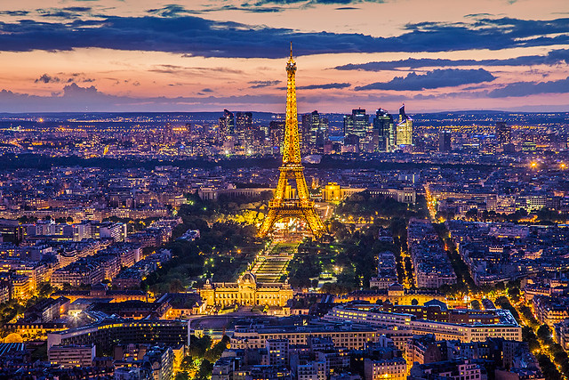 Paris. Eiffel tower view