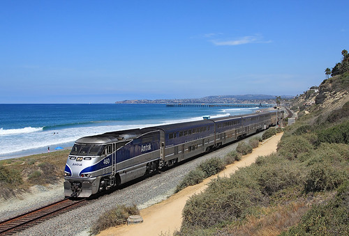 california train san pacific amtrak locomotive clemente 460 surfliner emd f59phi emdf59phi