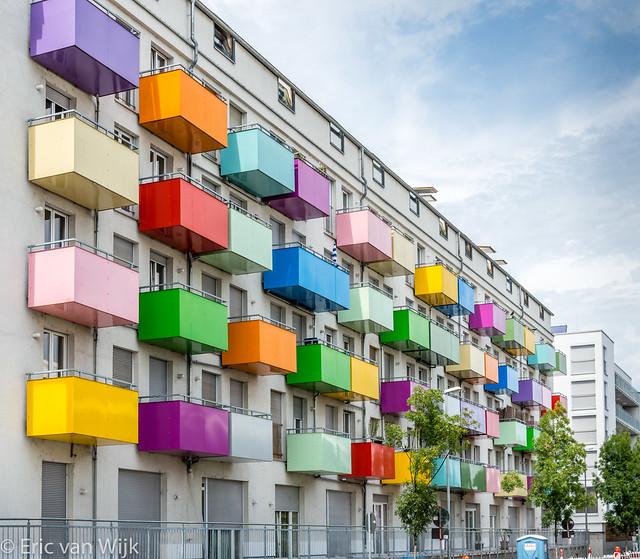 Gekleurde balkons