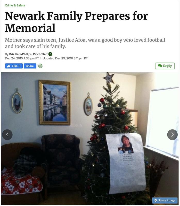 Patch: Newark Family Prepares for Memorial