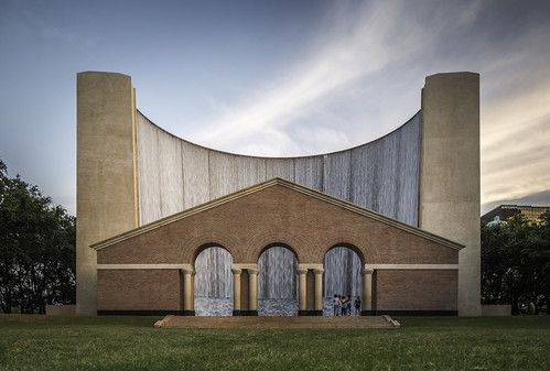 park people usa brick water grass architecture photography us photo texas unitedstates image tx houston august arches f45 photograph 24mm fineartphotography waterwall 2014 tse24mmf35l ¹⁄₁₅sec mabrycampbell august262014 20140826h6a8070 philipjohnson hines galleriaarea harriscounty waterwallpark geralddhineswaterwallpark iso100